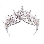 Elegantes Haarband Barock Kristall Stirnband Tiara Krone Hochzeit Braut Haarschmuck für Damen