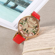 LVPAI Vintage Women's Watch Elegant Vintage Flower Leather Watch