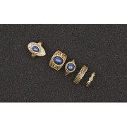 Anello della Boemia del braccialetto del turchese dell'annata dell'anello 5pcs