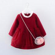 Robe pull en dentelle à manches longues pour filles pendant 1-5 ans
