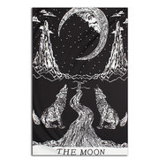 130X210cm Moon Wolf Mandala Wall Hanging Tapestry Beach Towel Bohemian Bedspread Throw Dorm Cover