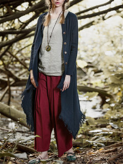 Cardigan con collo tondo o colletto irregolare