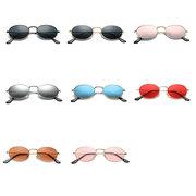 Унисекс металлическая круглая рамка ретро солнцезащитные очки модные солнцезащитные очки