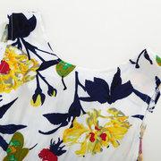Blume gedruckt Kleinkinder Mädchen Kinder ärmellose A-Linie lässig Sommer Prinzessin Kleider