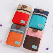 Casual Patchword Nylon 5.5inch Phone Bag Purse Shoulder Bags Passport Storage Bag