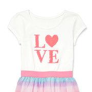 Sequin'LOVE 'в полоску для девочек с коротким рукавом Платье для 3-13 лет