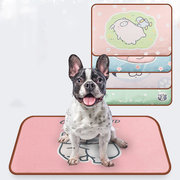 Cartoon Printing Ice Silk Pet Sleeping Pad Removable And Washable Waterproof Cat Dog Blanket Summer