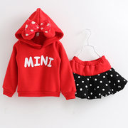 Christmas Girls Printed Sweatshirt Skirt Sets For 3Y-11Y