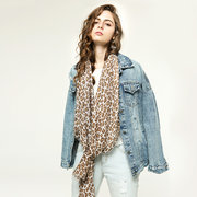 Woman's Leopard Scarf Multicolor Printing Sunscreen Shawl