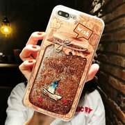 Donna Fantasy Wishing Bottiglia Di Quicksand TPU Phone Cover posteriore Cover anti-caduta per iPhone