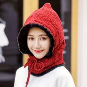 Unisexe hiver multi visage masque tricot écharpe Skullies beanies chapeau cache-cou extérieur chapeau coupe-vent