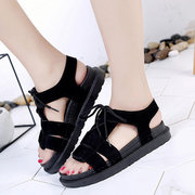 Solide Lace Up Plateau Sandalen