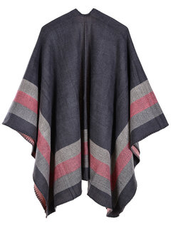 Casual Striped Print Shawl Cardigan for Women