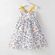 Girls Cartoon Animal Cute Sling Dress For 2-9Y
