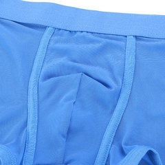 Sexy Transparent Solid Color Breathable Mesh Ice Silk Thin Boxer Underwear for Men