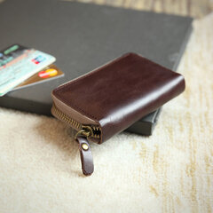 Retro Genuine Leather Card Holder Multi-slots Wallet For Men