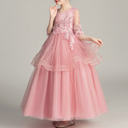 Beaded Embroidered Wedding Tutu Princess Dress For 6-15Y