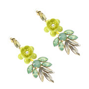 JASSY® Bohemian 18K banhado a ouro Opal Artificial Pearl Flower Ear Drop Sweet Earrings Gift for Women