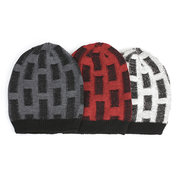Men Unisex Warm Double-sided Wear Knitted Beanies Hats Casual Elastic Hip-hop Bonnet Caps
