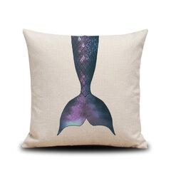 الكرتون مجردة حورية البحر الذيل الكتان وسادة غطاء مخصص الرئيسية أريكة وسادة وسادة