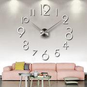 المبدع شخصية بسيطة الأزياء ساعة الحائط 3d الاكريليك مرآة ملصقات الحائط ساعة غرفة المعيشة diy ساعة الحائط