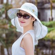 Женский платок Маска Шапка Съемный костюм Тонкий дышащий с широкими полями На открытом воздухе Защита от солнца Шапка