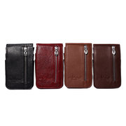 Geniune Leather Phone Bag Mini Multifunction Outdoor Leisure Vertical Section Bag For Men