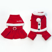 Christmas Pet Prince and Princess Warm Coat Costume Puppy Winter Christmas Clothing