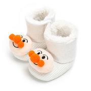 Cute Cartoon Patchwork Baby Shoes Stivali in pile per 0-12 mesi