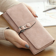 Women Elegant PU Leather Wallet Casual Purse Party Clutches Bag Card Holders