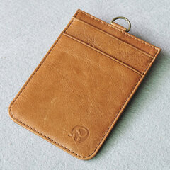 Women Casual Genuine Leather Solid Card Holder