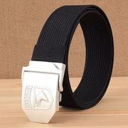 Cintura elástica de aleación de los hombres para hombres Tejido elástico Cinturón Cintura de ocio ajustable de color sólido