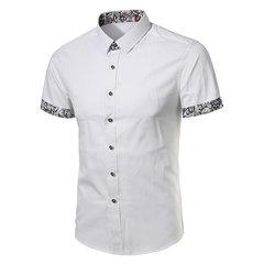 Camisas de vestir florales de manga corta slim fit para hombres