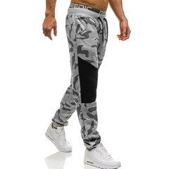 Mens Camo Tunnelzug elastische Taille Slim Fit Fitness Jogging Casual Sporthosen