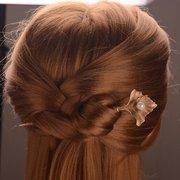 Vintage Damen Haarnadeln Zinc Alloy Blume Perle Hochzeit Braut Haarschmuck Headwear für Frauen