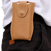 Business Pu Leather Waist Bag Solid Phone Bag Crossbody Bag For Men