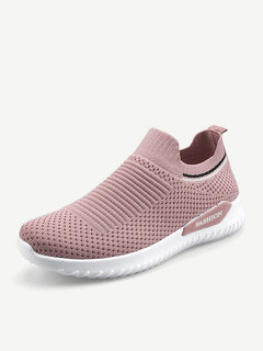 Women Mesh Breathable Slip On Athletic Running Casual Sport Shoes