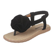 Girls Floral Decor Clip Toe Comfy Playa Sandalias para niños
