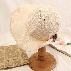 Chapeau de paille pliable en coton et lin chapeau de soleil de plage de plein air d'été de voyage pour femme