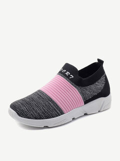 Breathable Mesh Splicing Running Sport Shoes For Women