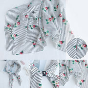 Women Lady Warm Floral Chiffon Printed Small Square Handkerchief With Drill Button