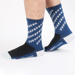 Mens Breathable Wicking Bicycle Sports Socks Deodorant Compression Running Middle Tube Socks