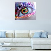 5D DIY Full Diamond Colorful Eyes Canvas Embroidery Painting Cross Stitch Living Room Home Decor
