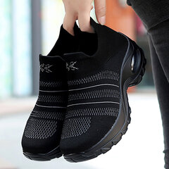 Women Casual Running Breathable Mesh Hollow Platform Sneakers