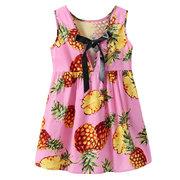 Ananas Printed Girls Sommerkleider Sleeveless Tropical Dress Freizeitkleidung Tank Dress