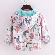 Flowers Animals Toddler Girls Jacket Kids Outerwear Coat For 1Y-7Y