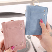 Women Ultra-thin Card Holder Pu Leather Wallet Purse