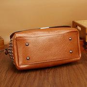 Vintage Niet Öl-Wachs PU Leder Damen Handtasche Schultertasche Crossbody Taschen