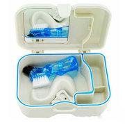 Prothese Koffer Container Kit Kunststoff Aufbewahrungsbox mit Spiegel und saubere Bürste Dental Appliance