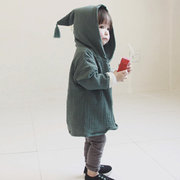 Spring/Autumn Girls Cardigan Hooded Cute Coat Jackets for Baby Kids Clothing